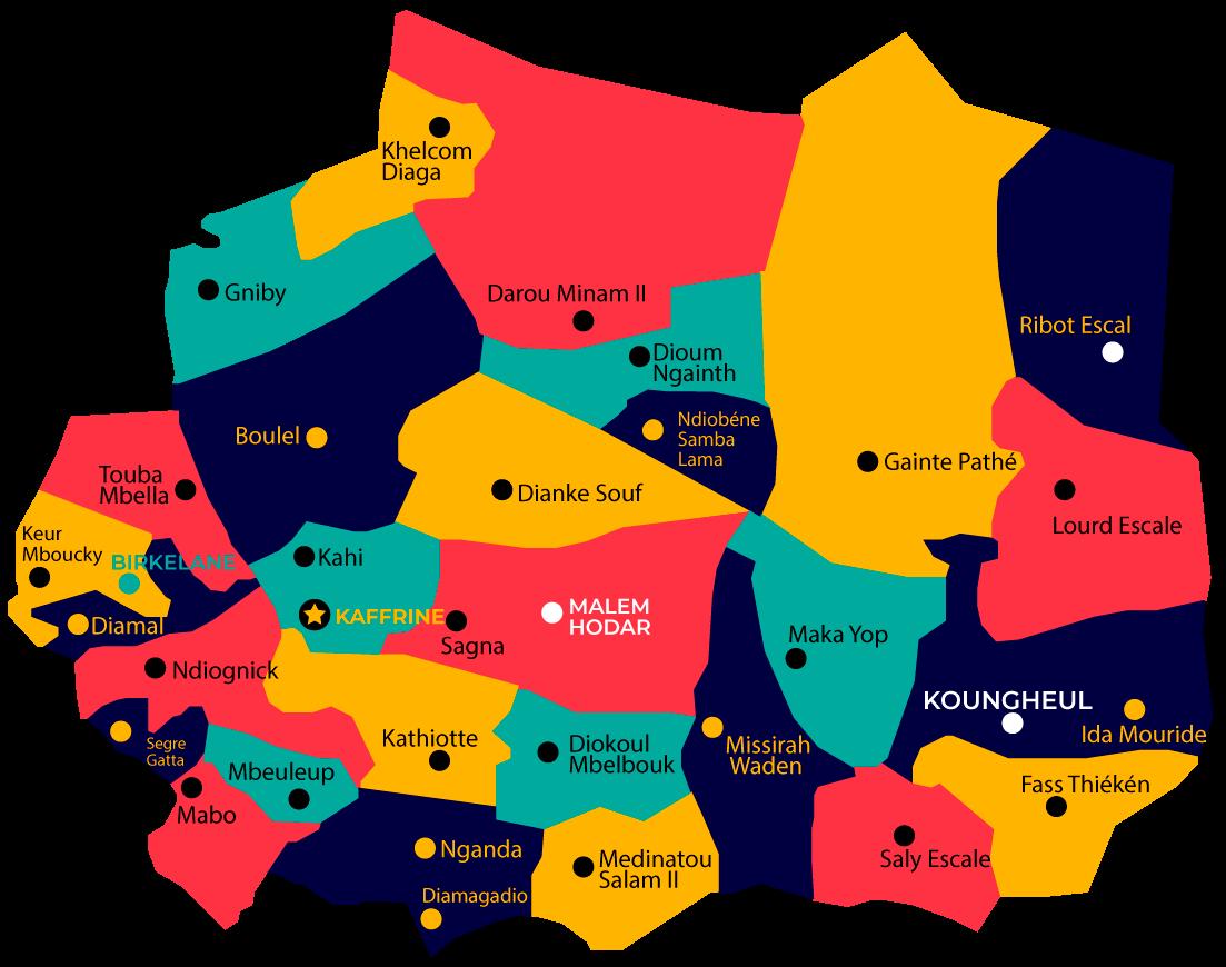 Map region de kaffrine