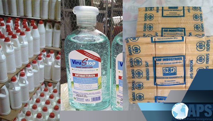 Sen'eau offre des désinfectants à la gouvernance de kaffrine